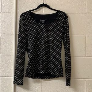 Polka dot Blouse Sheer Sleeves